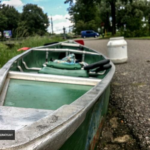 De Kayak Ligt Klaar Voor Een Tocht