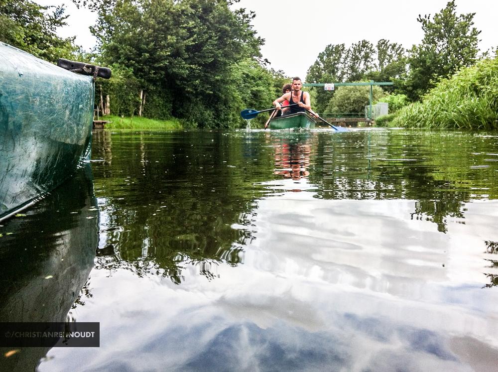 In de kano bij Amersfoort