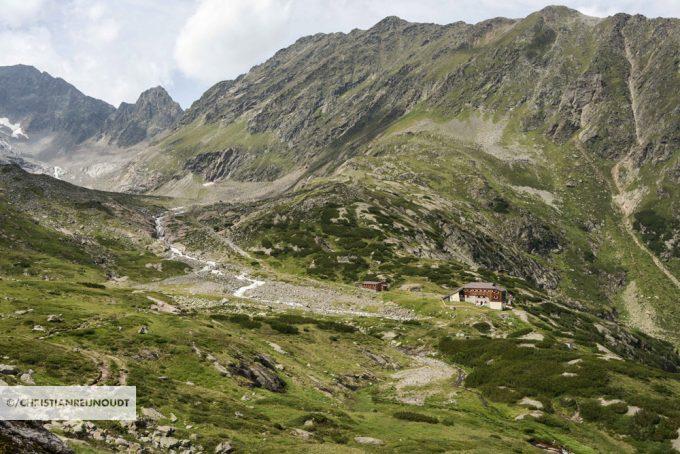 Sulzenau Hütte Bij Onze Aankomst