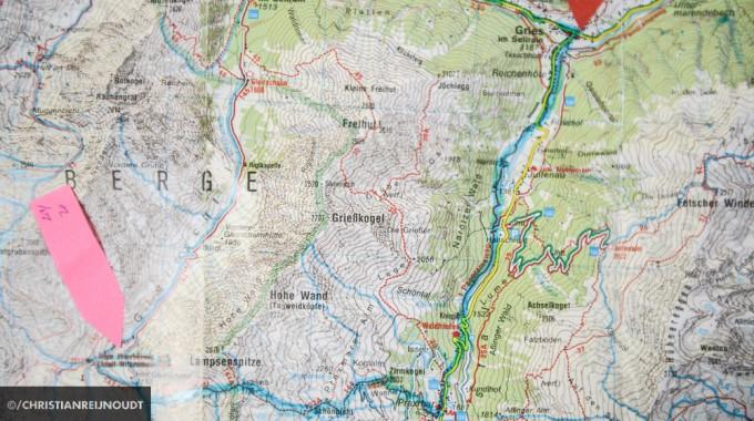 Route Op Wandelkaart