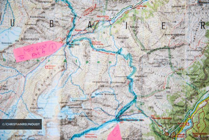 Etappe Van De Stubaier Höhenweg Op Kaart