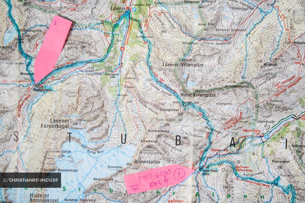 Onze wandelroute op de Wandelkaart