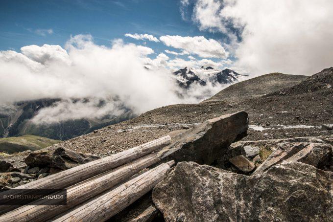 Mooi Vergezicht Met Wolken Vanaf Grawagruebennieder