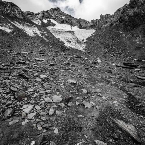 Een Maanlandschap Onstaat Als De Gletser Terugtrekt