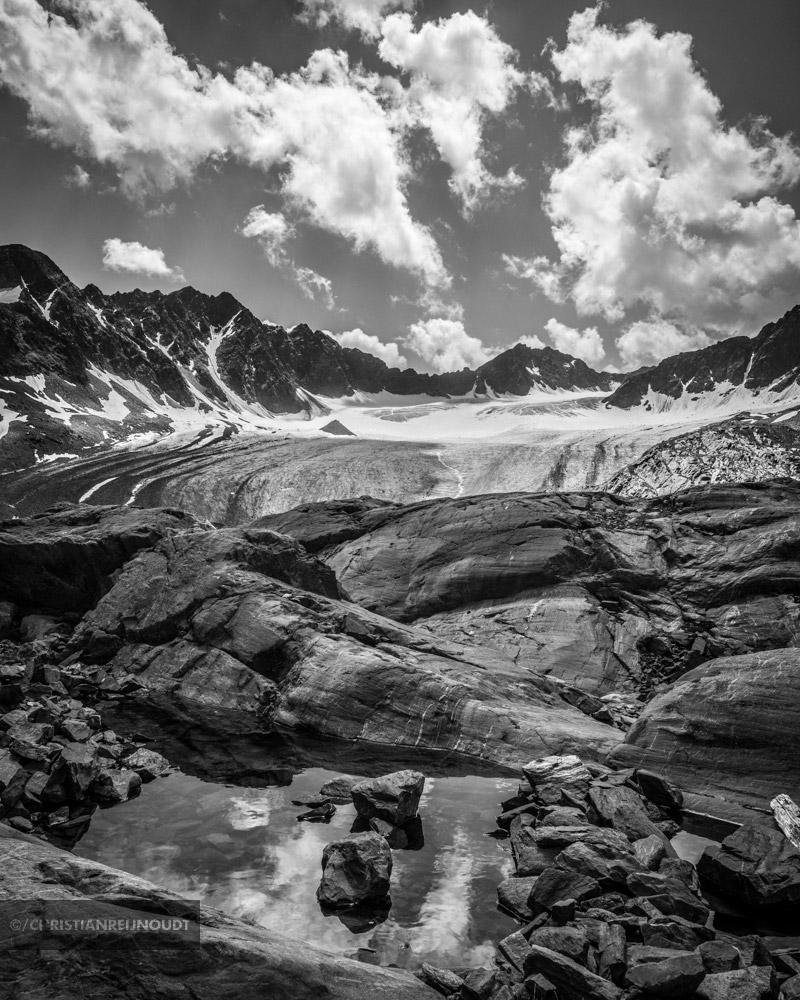 Indrukwekkend landschap met de Bachfallenferner in het Otztal