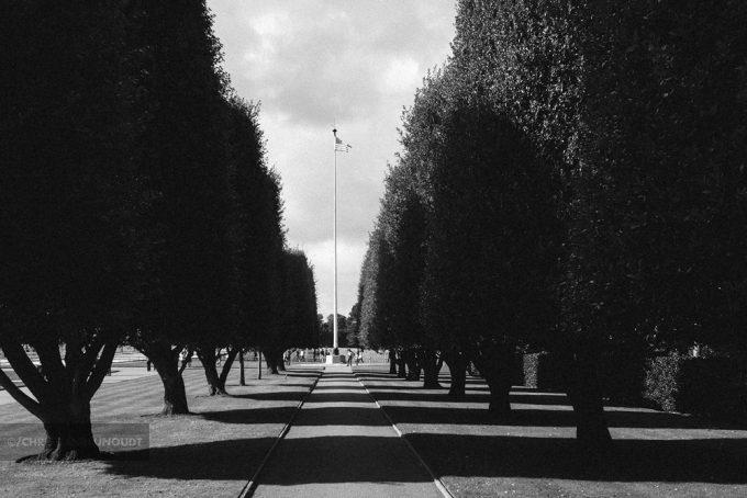 De Stars And Stripes Op Het Normandy American Cemetery