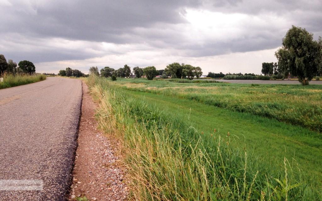 Fietsen op de Lekdijk-Oost richting Jaarsveld